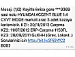 CENDEK AUTODAN 2011 HYUNDAİ ACCENT BLUE EXPER RAPORLU MASRAFSIZ Hyundai Accent Blue 1.4 CVVT Mode - 258814