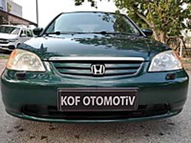 2001 HONDA CİVİC 1.6 VTEC ES FULL EKSTRALI ORJİNAL MASRAFSIZ Honda Civic 1.6 VTEC ES