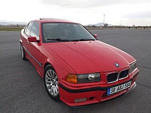 BMW E36 3.16İ-HASAR KAYITSIZ-SUNROOF-KOLTUK ISITMA-YOL BİLGİSAYARI-YENİ NESİL MOTOR-HELLROT KIRMIZISI