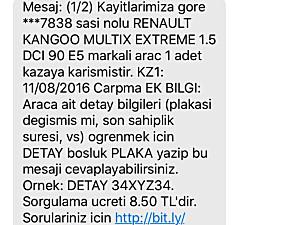PLAKALI RUHSATLI PERT KAYITSIZ 2015 RENAULT KANGO 1.5 DCİ EXTREM