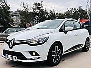 TINAZTEPE DEN 2018 CLİO SW DİZEL OTOMATİK YETKİLİ SERVİS BAKIMLI Renault Clio 1.5 dCi SportTourer Touch