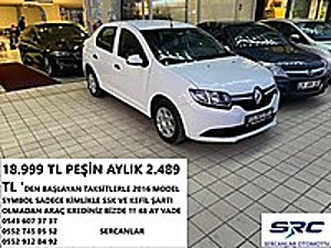 18.999 TL PEŞİN AYLIK 2.489 TL DEN BŞLYAN TKSİTLERLE SERCANLAR Renault Symbol 1.5 DCI Joy