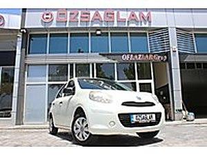 Özsağlam dan 2013 Model Nissan Micra 1.2 Passion 90binde Beyaz Nissan Micra 1.2 Passion